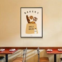 유니크 인테리어 디자인 포스터 M 데일리 브레드2 빵집 베이커리