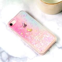 24K 금&크롬 도금 달빛별빛 글리터 핸드폰 케이스