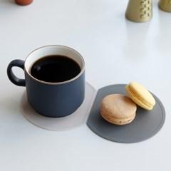 [단독 2+1]AL 하프문 실리콘 컵받침