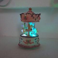 회전목마 LED 오르골(2color)_(1431889)