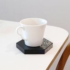 나전칠기 컵받침2P세트