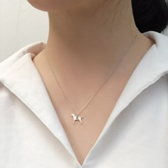[Silhouette] Italian greyhound necklace