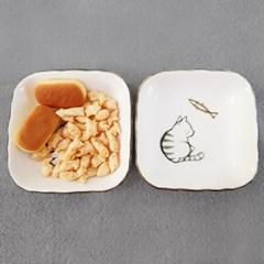 뚱냥이간식그릇