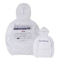 Graphic Print Napping Hoodie_White