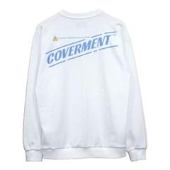 Circulate Logo Print Sweat shirts_White