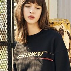 COVERMENT Signature Main Logo Print SweatShirts_BLACK