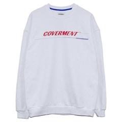COVERMENT Signature Main Logo Print SweatShirts_WH(RE)