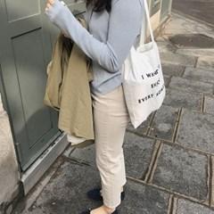enjoy every moment bag ( white )