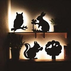 [일본]LED벽조명 3종(고양이/토끼/다람쥐)