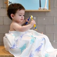 토토리_고래프렌즈 양면 친환경 아기목욕타올 1장 속싸개