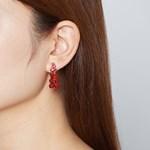 [귀찌가능] 리본 젤리곰 귀걸이
