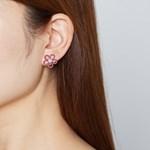 벨로아 꽃 진주 귀걸이