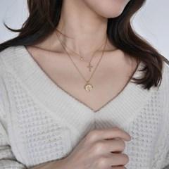 [925실버] 미니 볼 십자가 목걸이 mini ball cross necklace
