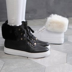 kami et muse Long fur cuffs sneakers ankle boots _KM18w278