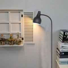 [LAMPDA]길이조절 스프링플로어 장스탠드(블랙)