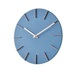 황동 인덱스 벽시계(블루)