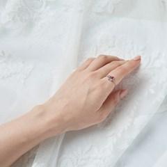 큐빅 나비 반지