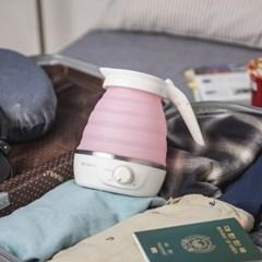 코슬리 크럼플 핑크 SN-3601P 휴대용 여행용 전기포트