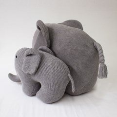 코끼리 쿠션.인형 gray