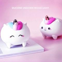 실리콘 유니콘 충전식 LED 무드등_(862919)