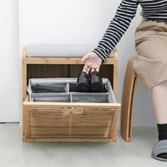 대나무 다용도보관함 Bamboo front lap shoe box_(615986)
