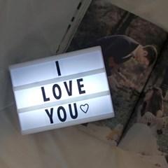 시네마 레터링 라이트박스 미니 무드램프 20x15cm