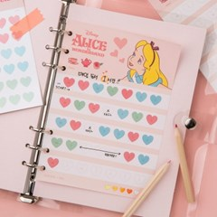 [디즈니] 일주일 실천 메모패드 (미키, 푸, 앨리스, 칩앤데일)