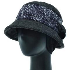 [더그레이]OCU08.부클레배색 귀달이 여성 벙거지 모자 버킷햇