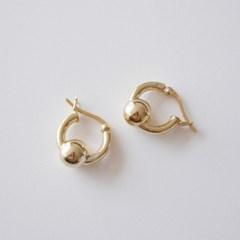[925실버]골드 볼 셀 귀걸이, gold ball cel earring
