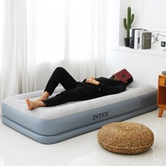 INTEX 펌프내장형 에어매트 침대 매트리스 듀라빔