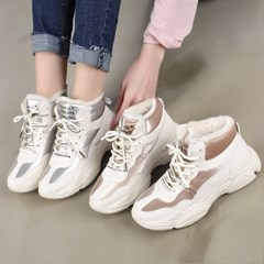 kami et muse Glittering color point fur high top _KM18w296