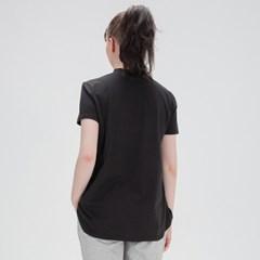 에이라인 반목폴라 반팔 티셔츠 DFW5017 블랙