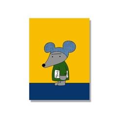 [캔버스액자A5]Newspaper Mouse