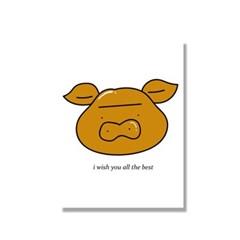 [캔버스액자A4]Golden pig