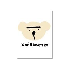 [캔버스액자A4]Crayon Bear