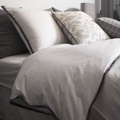 Dark Lining White Bedding Set _D/Q