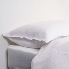 Premium Soft Touch Linen Pillowcase_white