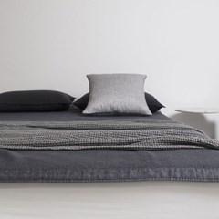 Herringbone Linen Cushion.gray