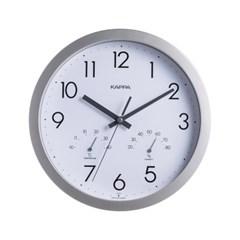카파 IP248 실버 온도습도표시 무소음 인테리어벽시계