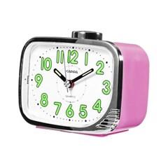 카파 T872 핑크 강력한 내장벨알람 탁상시계 야광
