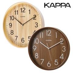 카파 W683 무소음 자작나무 원목벽시계 2종 택1
