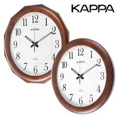 카파 W650 무소음 원목 대형벽시계 국내산 2종 택1