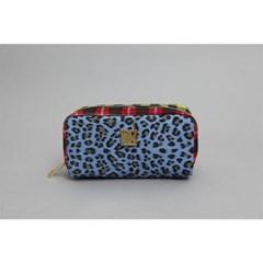 check leopard pouch