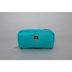 knit-padding pouch(sky/black)