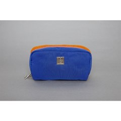 knit-padding pouch(blue/brown)