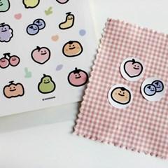 과일가게 스티커 (5장)