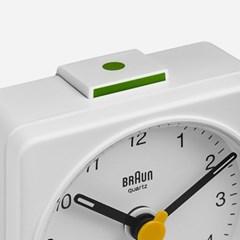 BRAUN Travel Alarm Clock BC02 White