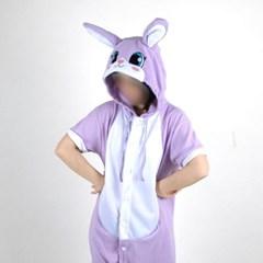 반팔 동물잠옷 토끼 (퍼플)