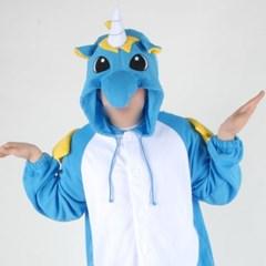 사계절 동물잠옷 유니콘 (핫블루)