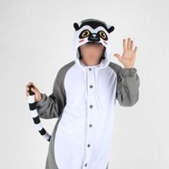 사계절 동물잠옷 여우원숭이 (그레이)